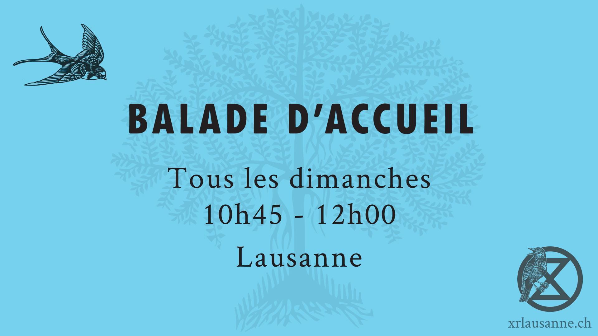 BALADE D'ACCUEIL – RENCONTREZ-NOUS!