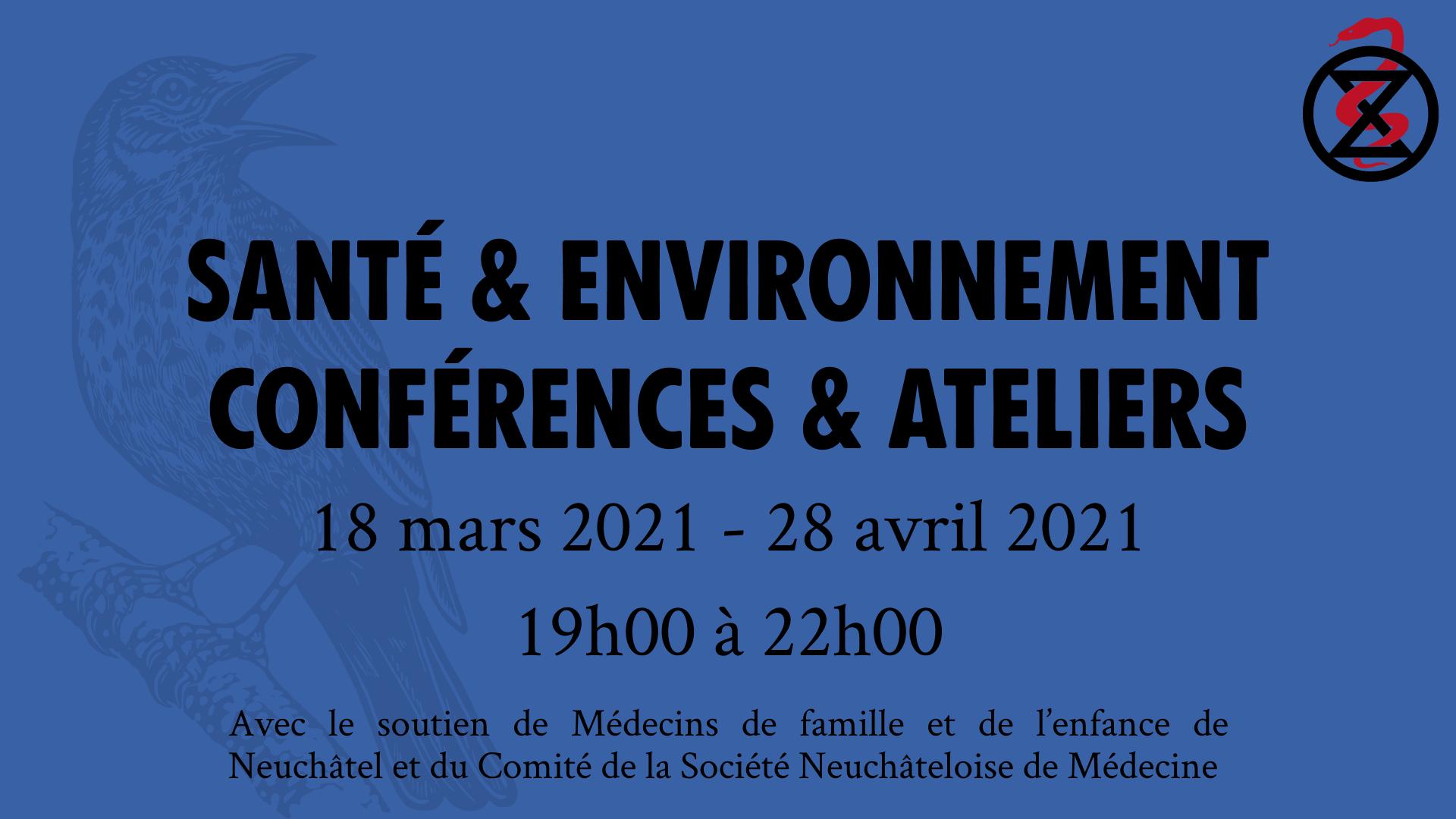 Santé & Environnement: deux conférences-ateliers publiques en ligne