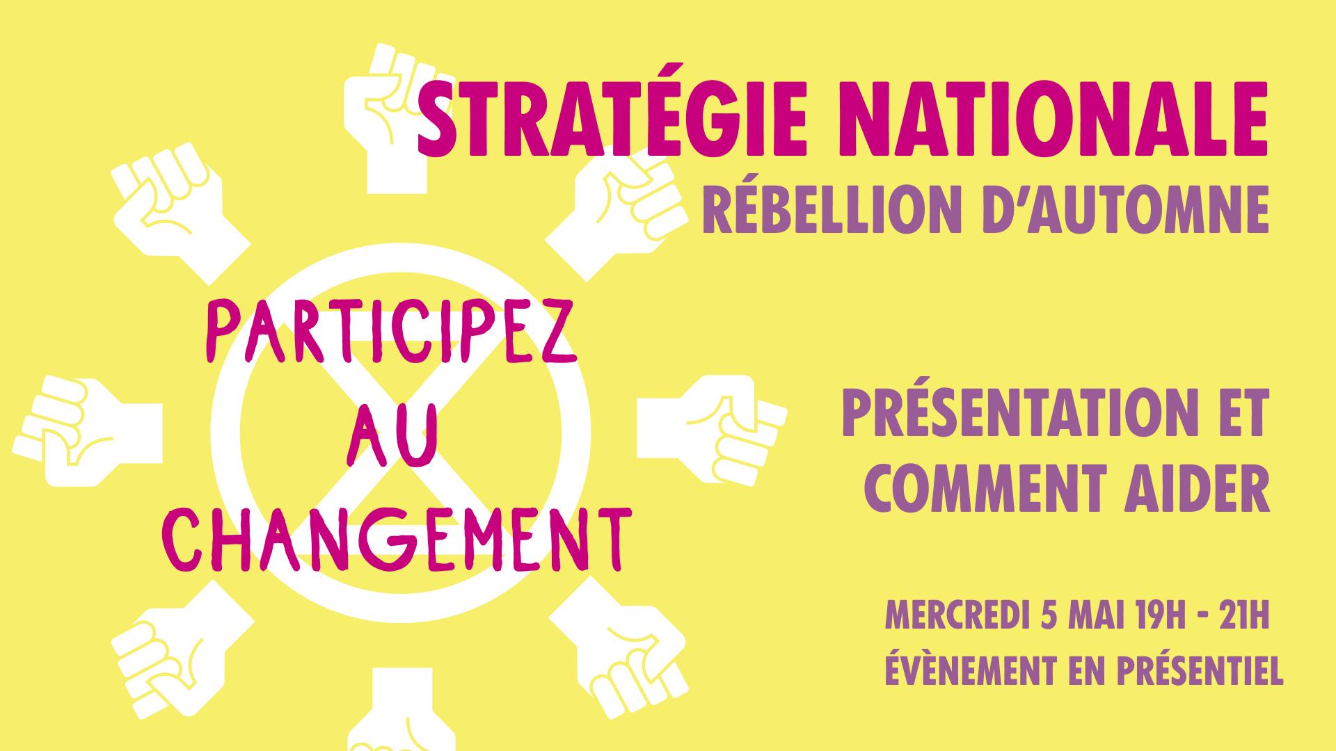 RÉBELLION D'AUTOMNE – STRATÉGIE NATIONALE