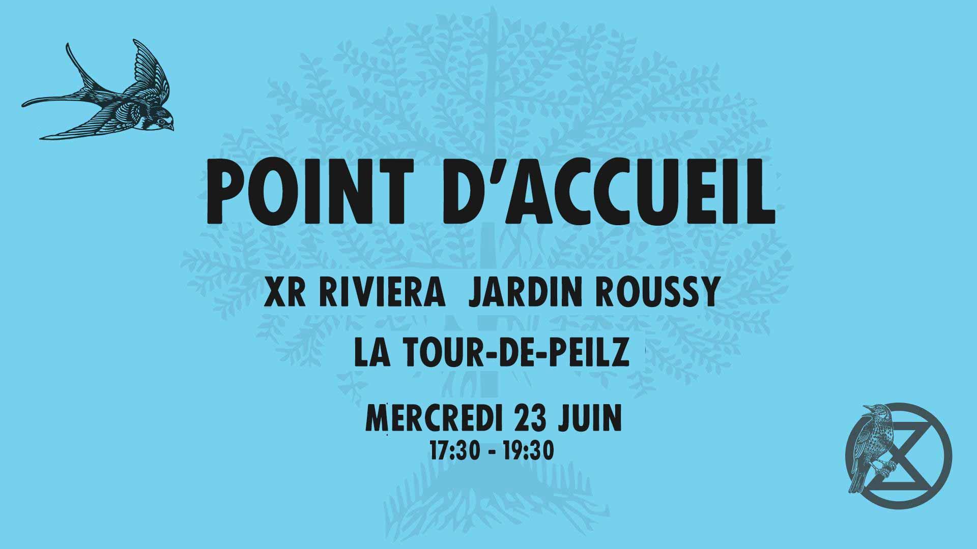 Point d'accueil  XR Riviera  Jardin Roussy