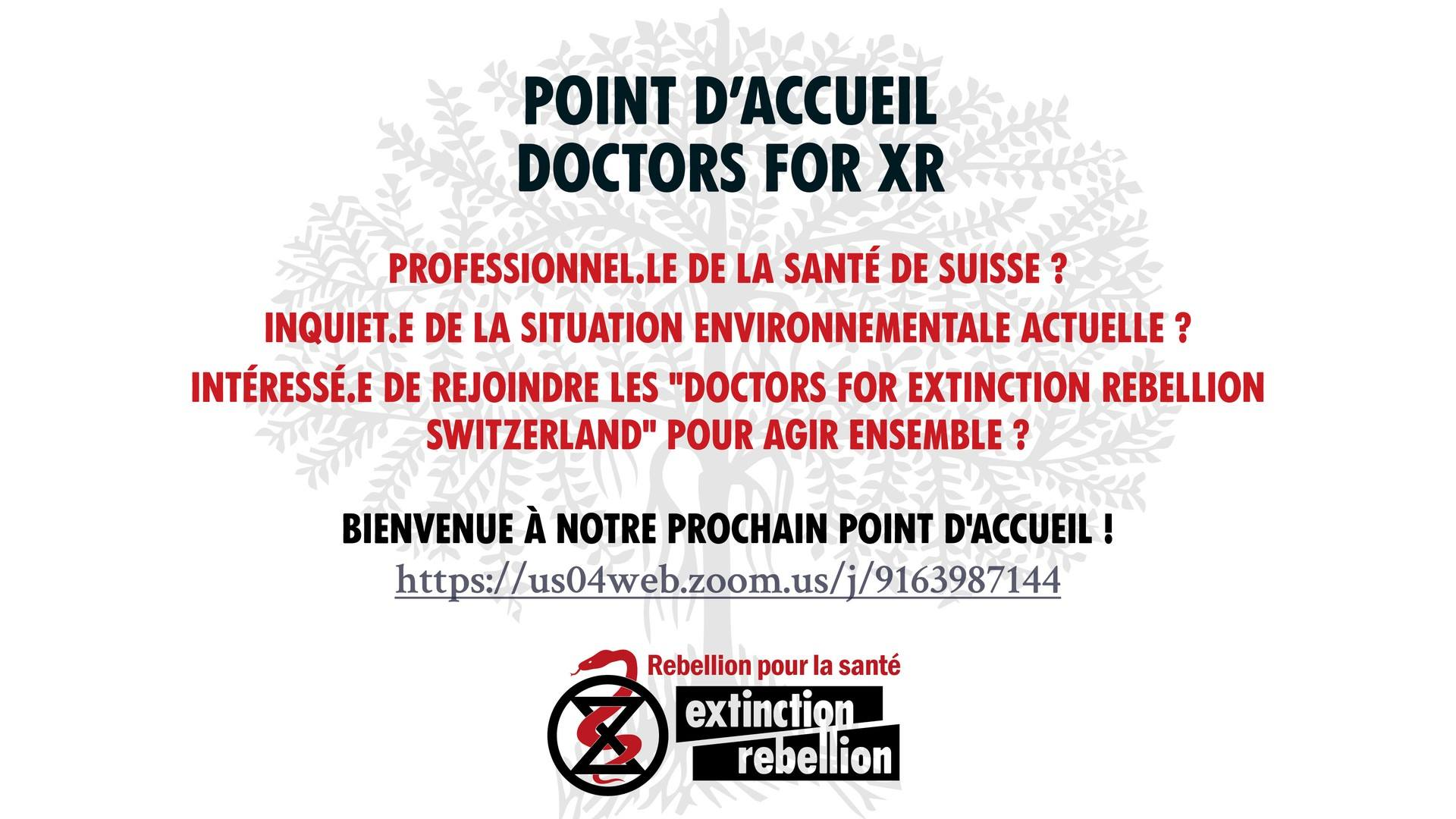 Doctors For XR – Point d'accueil