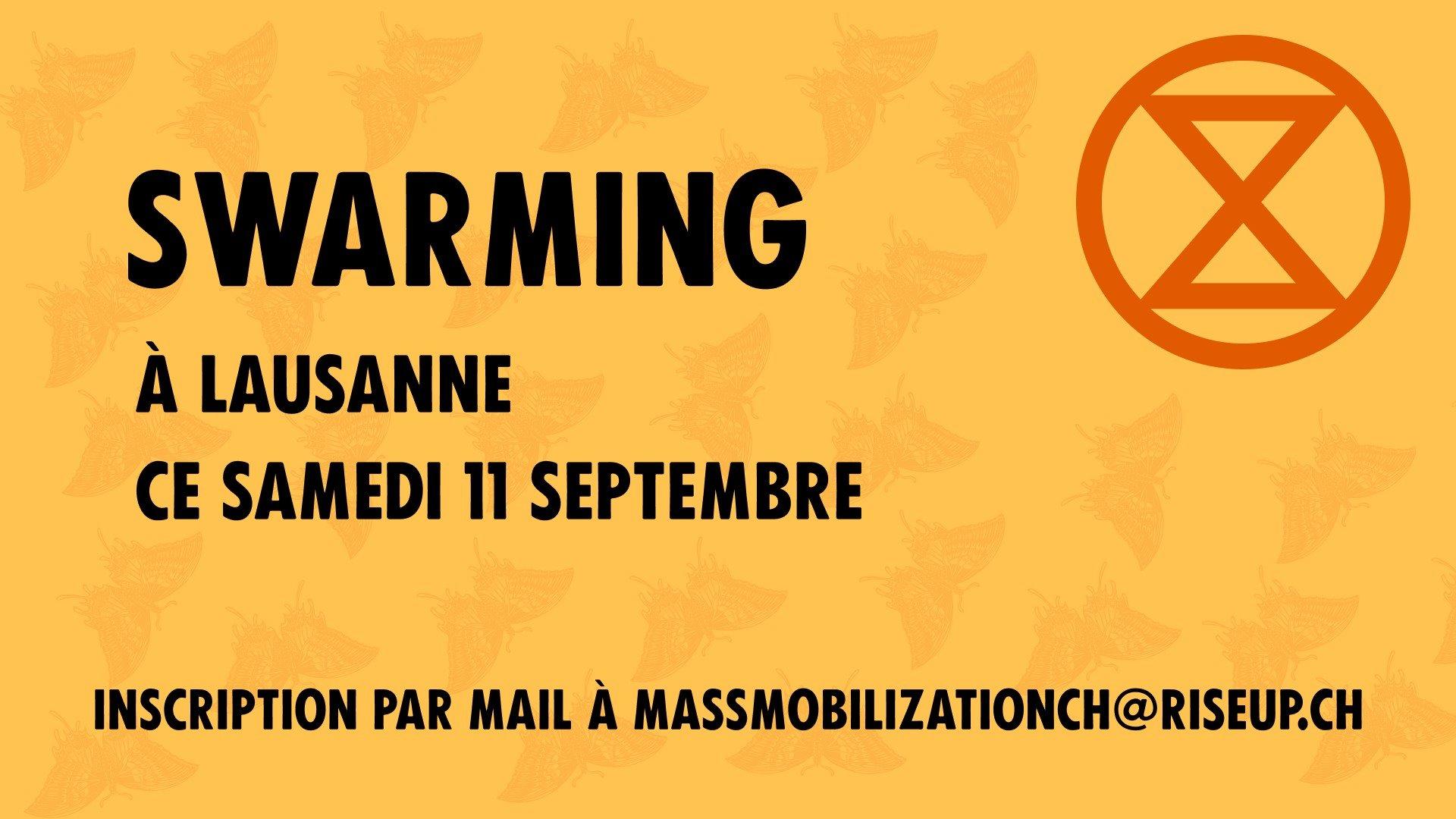Action – swarming à Lausanne